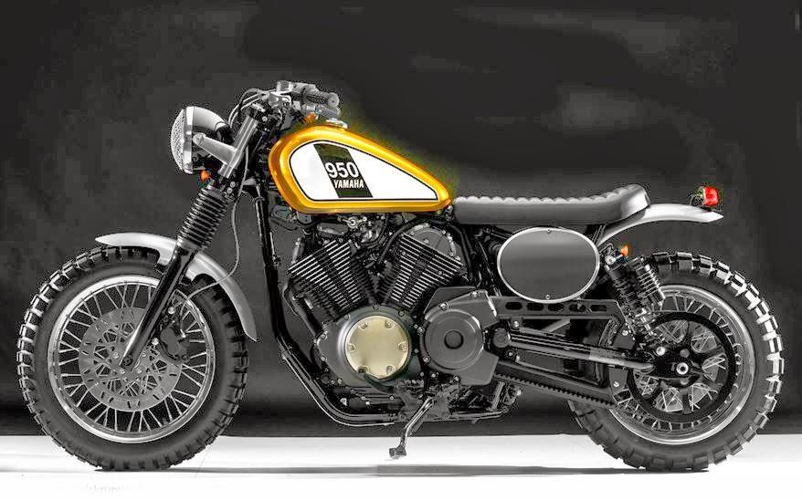 Semakin Keren dan Sederhana Yamaha XV950R