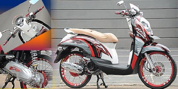 Scoopy dengan Konsep baru Wajah Garang ala Road Race