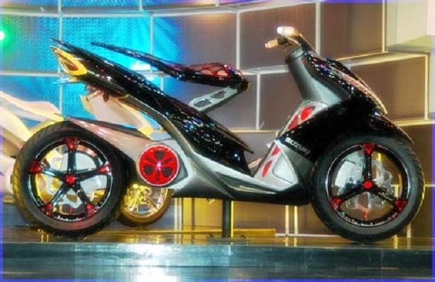 Membuat Konsep unik dan Menarik untuk Tampilan Suzuki Spin 125