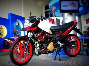 Sosok Motor terbaru Satria F150 Black Fire II dilengkapi Alarm