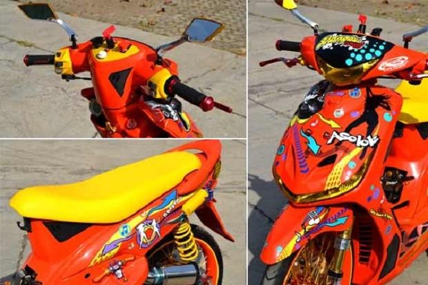 Tips dan Konsep berbeda Cutting sticker Yamaha Mio body standar tapi Wajah baru