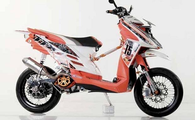 Modifikasi Yamaha X-ride dengan Tongkrongan Berbeda dari Aslinya