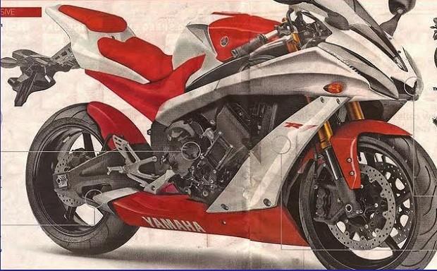 Rancangan Moge Terbaru andalan Yamaha YZF R1 di tahun 2015