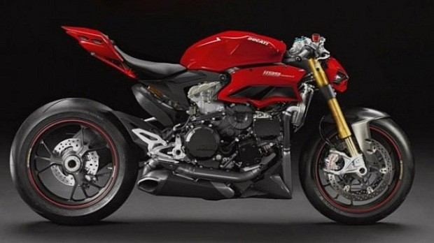 Sosok Ducati 1199 Panigale model superbike Namun Telanjang
