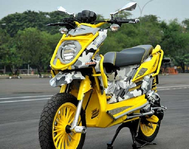 Modifikasi Yamaha X-Ride menjadi Trend skutik dengan Ide kreatif