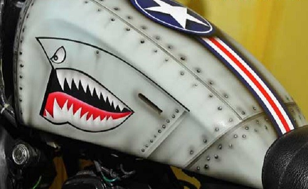 Modifikasi Honda Tiger Mirip Dengan Pesawat Tempur Amerika The Tiger Shark