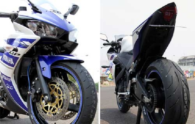 Modifikasi Kaki Kaki Yamaha YZF R25 Dengan Limbah Moge