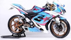 Modifikasi New vixion Mengadopsi Fairing Ala Motor sport