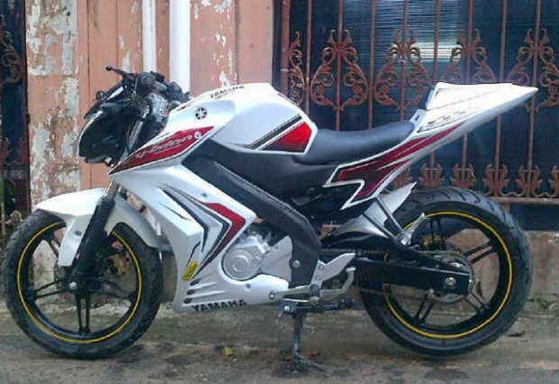 Modifikasi Simple New Vixion Warna Putih