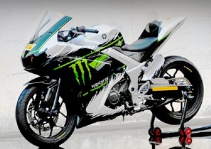 Modifikasi Yamaha YZF-R25 2015, Tampil Dengan Baju Yamaha YZR-M1