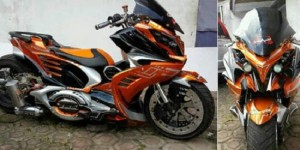 Kesan Glamour Modifikasi Vario Model Robot