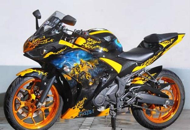 Modifikasi Yamaha YZF-R25, Bumblebee Menjadi Inspirasi