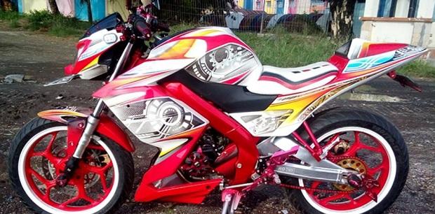 Ide Kreatif Tampil Beda New Vixion dengan Fairing custom Z250
