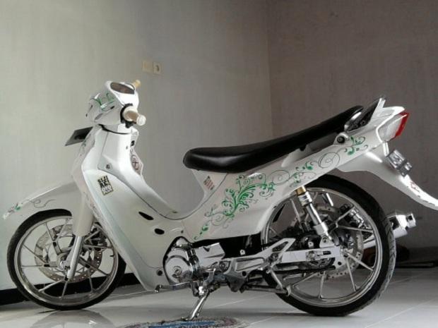 Kesan Berbeda Modifikasi Suzuki Shogun Konsep Batik