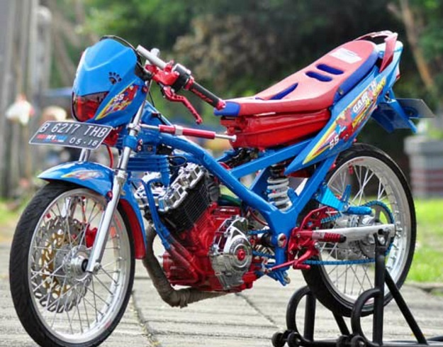 Modifikasi Street Racing Suzuki Satria F150, Penampilan Lebih Sangar dan Berotot