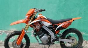 Modifikasi Yamaha Supermoto Jupiter MX 135, Tidak Kalah Gahar Dari KTM