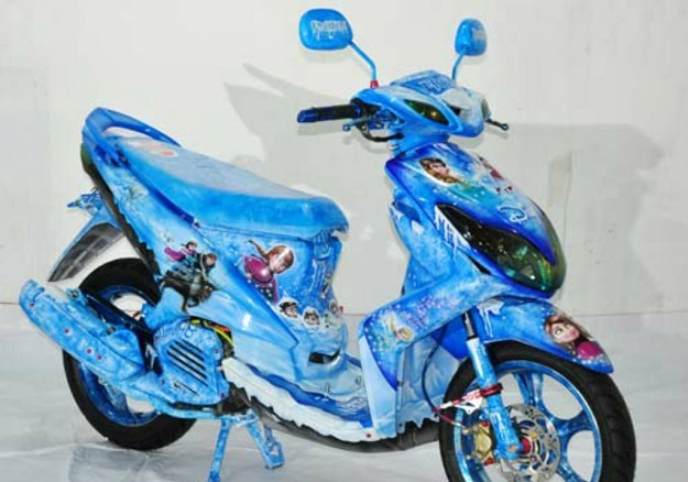 Modifikasi Yamaha Xeon, Penggemar Film Frozen