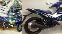 Wujud Terbaru Yamaha Jupiter MX King 150 Dibalut Dengan Livery Tim Movistar Yamaha MotoGP