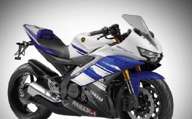Modifikasi R15 Bagian Kepala Melekat Headlamp GT 125 Blue core