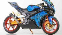 Modifikasi Yamaha R15 Dengan Konsep Airbrush Grim Reaper