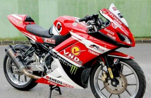 Modifikasi Full Fairing Yamaha New V-Ixion Lightning